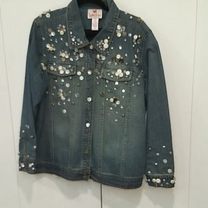 Embellished jean jacket